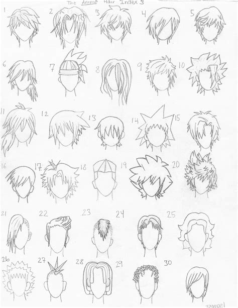 anime hairstyles to draw the anime hair index 3 by xxangelsilencex on deviantart