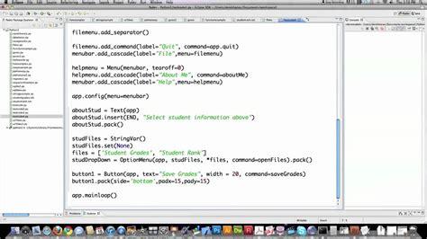 tutorial python video python 2 7 tutorial pt 16 tkinter youtube