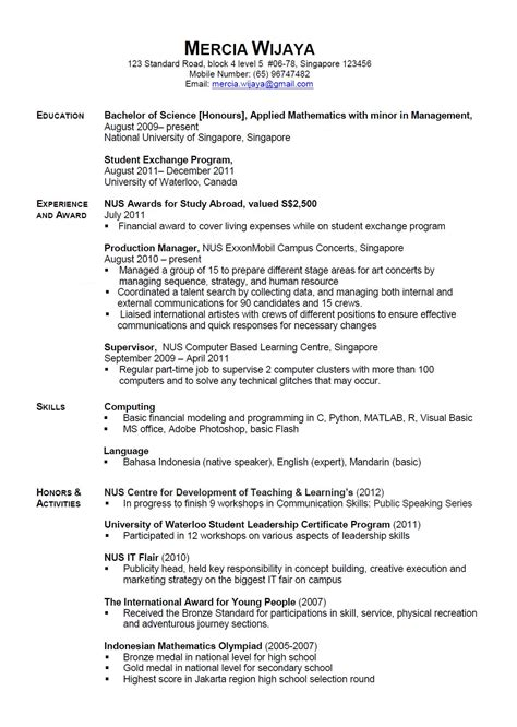 Sample Resume For Stay At Home Mom With No Work Experience