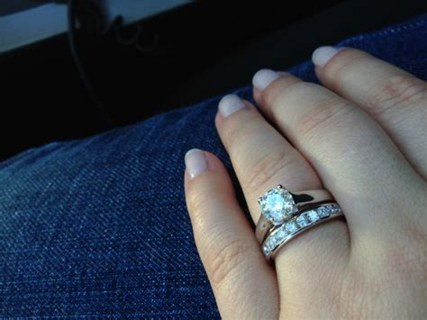 show me your solitaire rings with an eternity