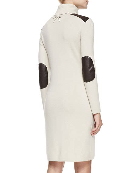 Patch Sweater Dress kate spade new york sleeve leather patch sweater dress