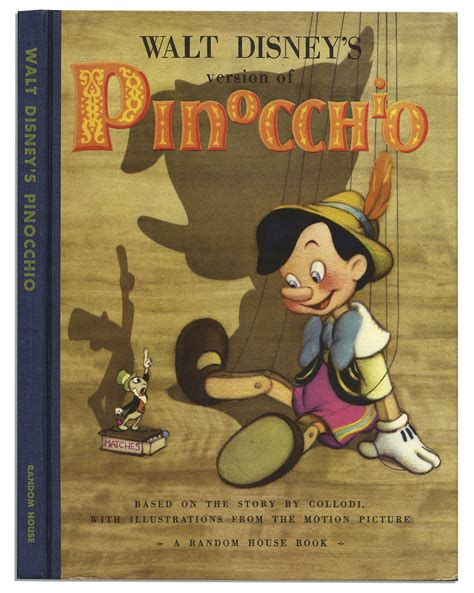pinocchio picture book lot detail walt disney pinocchio book signed with