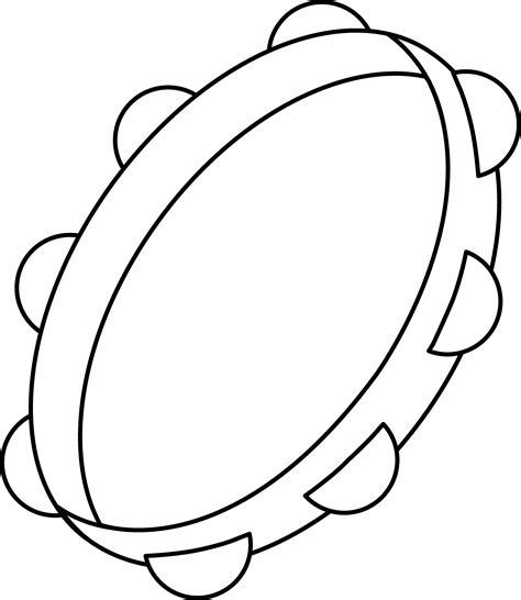 tambourine coloring page free clip art