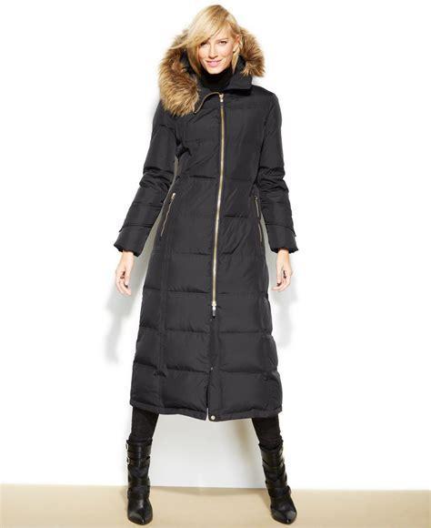 Lyst   Calvin Klein Hooded Faux fur trim Down Puffer Maxi