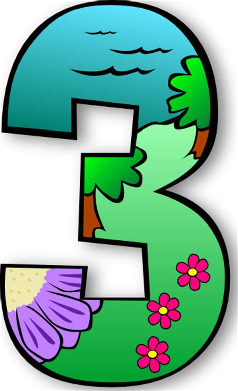 numbers clipart creation days numbers 3 clip at clker vector
