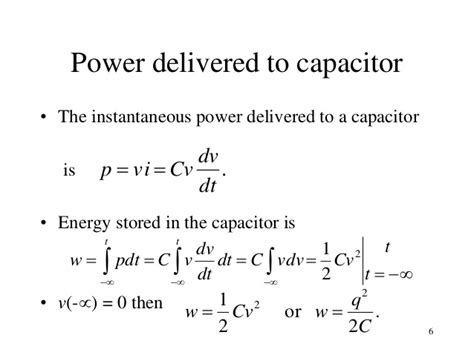 power of capacitor equation topic 2a ac circuits analysis