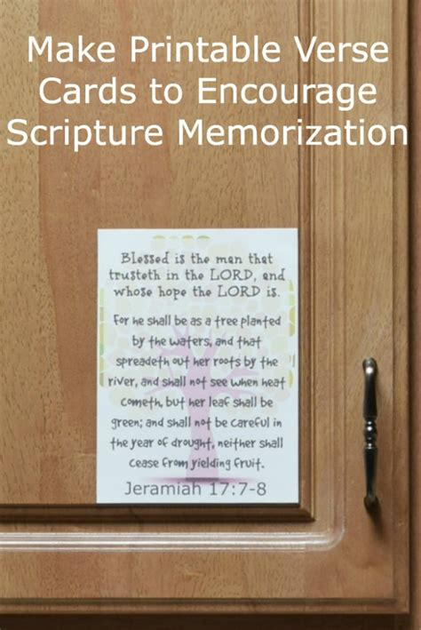verse cards template make your own printables bible memorization trick