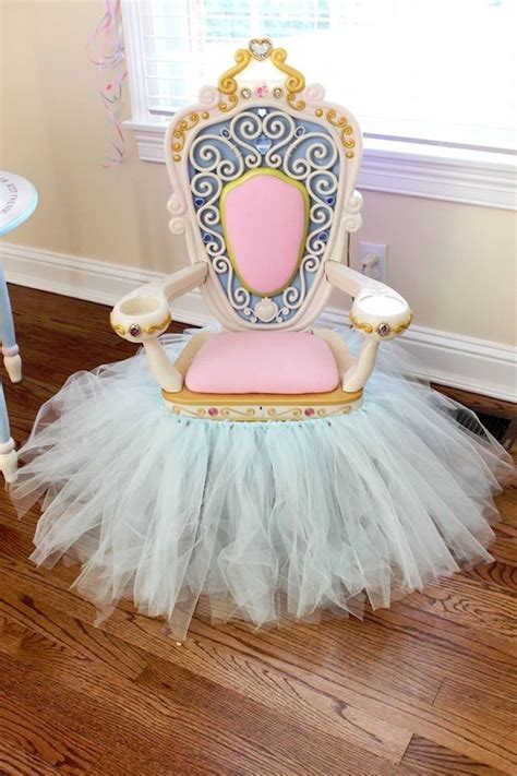 How To Make A Princess Chair by Royal Throne From A Princess Pink Cinderella Birthday