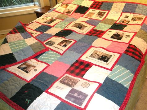 Custom Photo Quilts by Custom Clothing Memory Quilts Memory Bears