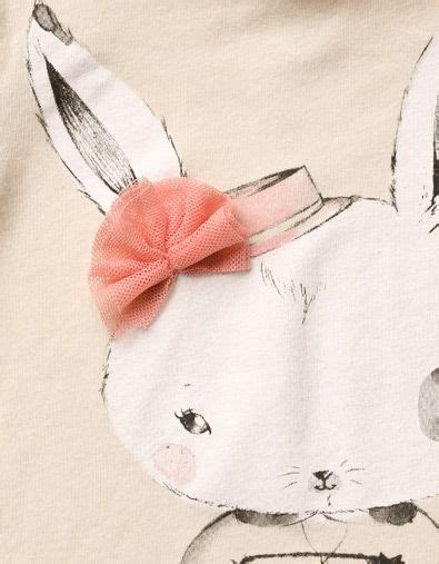 T Rabbit Kaos rabbit t shirt with tulle applique t shirts baby