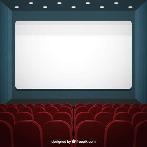 fondo cinema pantalla de cine con asientos de fondo iluminado descargar vectores premium
