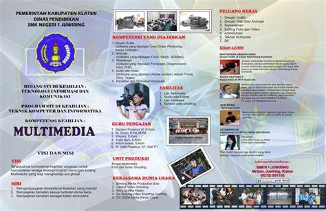 cara membuat brosur antar jemput sekolah pendaftaran siswa baru multimedia smkn 1 juwiring