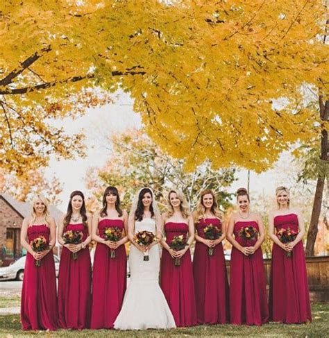 12 combinations for fall wedding colors