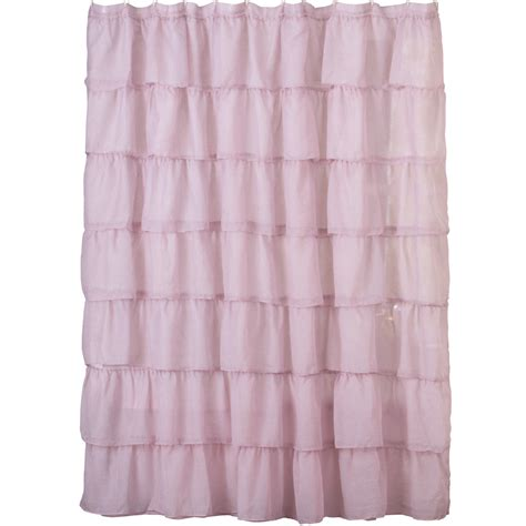 shower curtain collections ruffled sheer bathroom shower curtain by collections etc