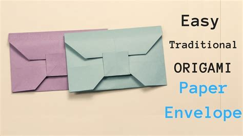 Origami Envelope Pattern - origami tutorial easy traditional paper envelope tutorial