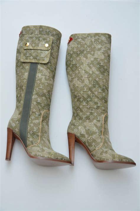 Heels Denim Lv louis vuitton green denim monogramouflage murakami heels