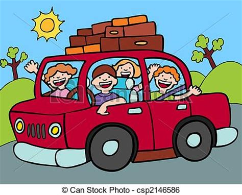 Small Vacation Home Plans by Clip Art Vector Of Road Trip Family Going For A Long