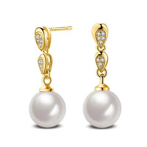 Rhinestone 18k Gold Earring 1 pair 18k gold opal pearl zircon earrings