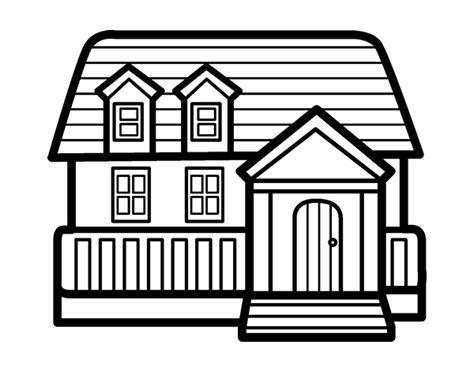 desenho de casas desenho de casa americana para colorir colorir