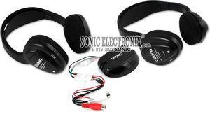 Headset Clarion clarion wh104 two set of wireless ir headphones