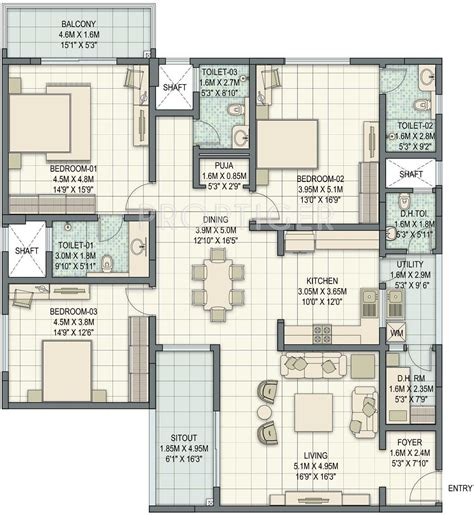 sobha floor plan sobha palladian by sobha limited in marathahalli