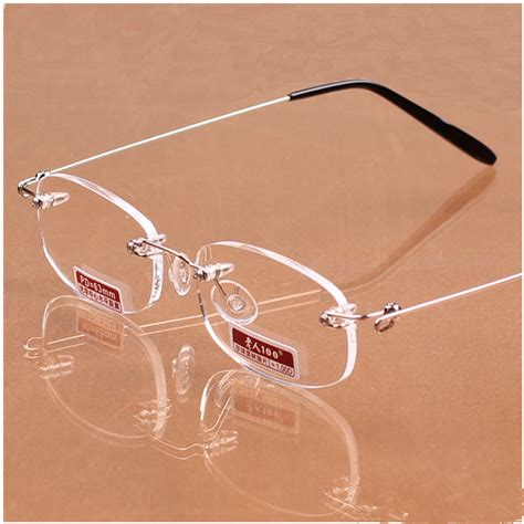 Best Seller Kacamata Unisex Fashion 5320 Silver top grade ultralight frameless reading glasses unisex high definition rimless glasses best