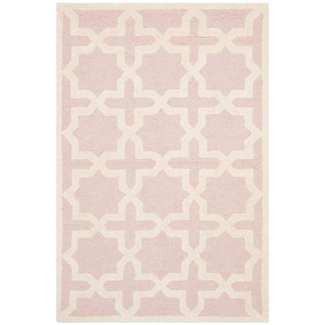 Light Pink Area Rugs Safavieh Cambridge Light Pink Ivory 2 Ft X 3 Ft Area Rug Cam125m 2 The Home Depot