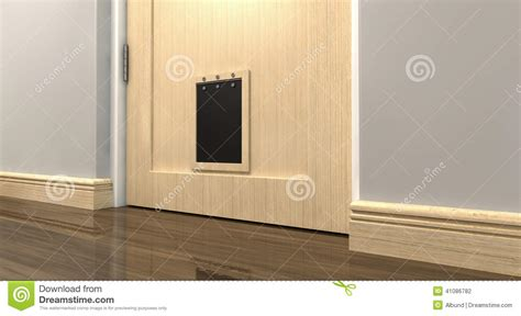 Interior Cat Door With Flap Pet Flap Interior Stock Photo Image Of Concept Entrance 41086782