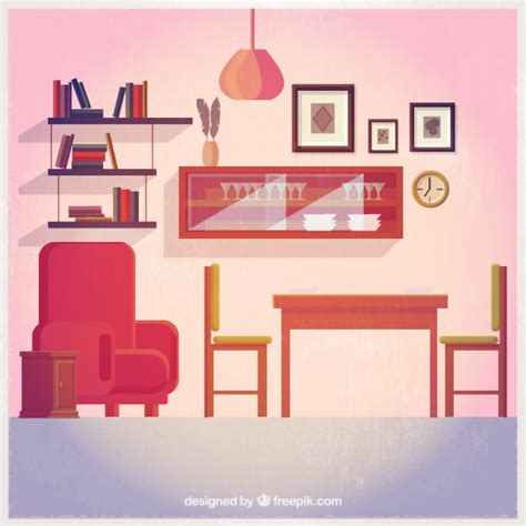Living Room Vector Free Living Room Decoration Vector Premium