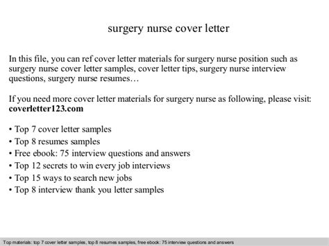 Surgery Cover Letter by Surgery Cover Letter