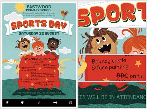 sports day poster template kid s sports day flyer template flyerheroes