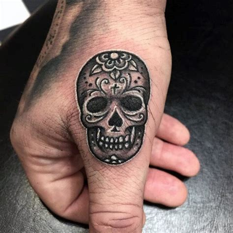 sugar skull finger tattoo 58 unique skull tattoos ideas and designs
