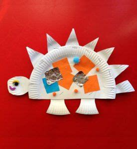 Stegosaurus Paper Plate Craft - 1000 images about dinosaurussen krokodillen on