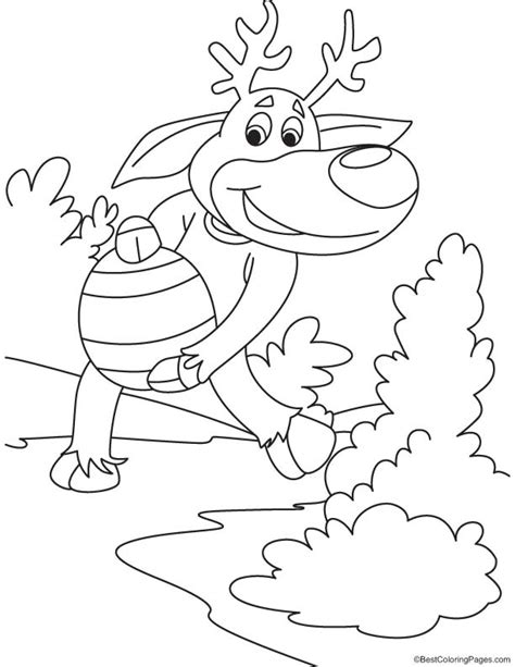 large reindeer coloring page reindeer with big egg coloring page download free