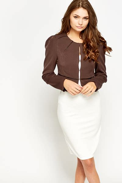 Contrast Trim Cropped contrast trim cropped blazer just 163 5