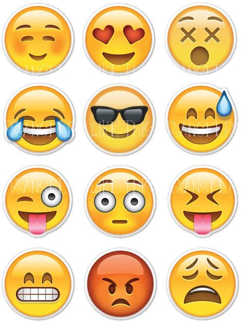 Emoticon Sticker emoticon emoji icons iron on heat transfer or sticker