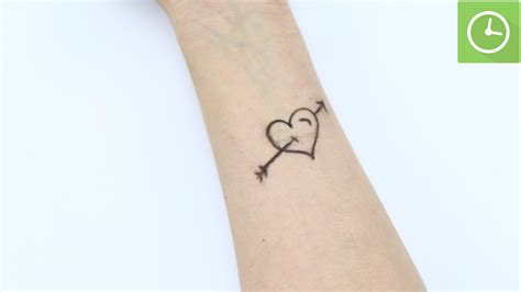how to make a temporary tattoo with a pencil 15 steps