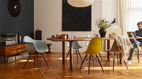 Light Blue Dining Chairs Vitra Eames Plastic Chair