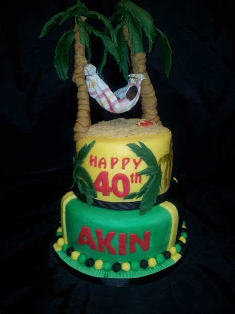 themed birthday cake recipes 40th birthday cake jamaican themed cakecentral com