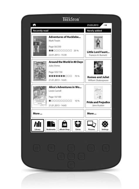 ebook reader illuminato trekstor pyrus 2 led ebook reader con display illuminato