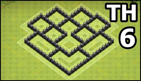 edit layout coc th6 youtube kids clash of clans town hall 6 coc th6 base
