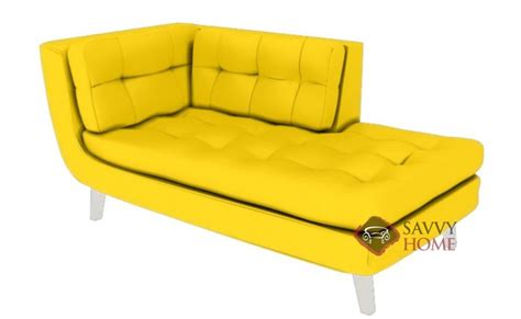 yellow chaise lounge sofa leather chaise lounge by lazar industries is fully