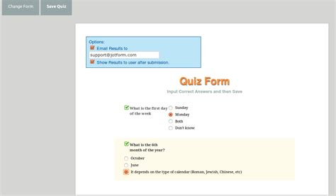 forms quiz template turn your form into a quiz or jotform