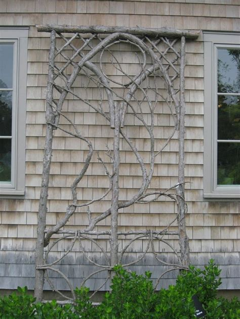 rose trellis plans make a trellis from branches in your yard gardening