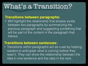 What Is A Transition Sentence In An Essay by Transitional Sentences For Essays