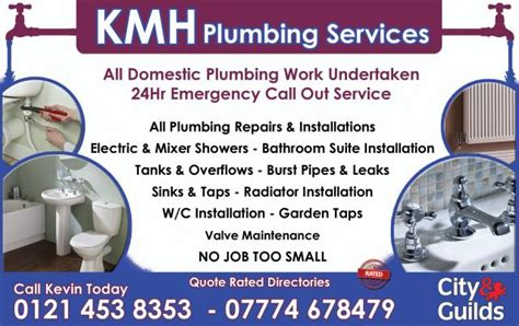 Plumbing Services Birmingham by Directories Kmh Plumbing Services