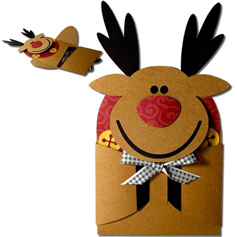 Reindeer Gift Card Holder - jmrush designs reindeer hug gift card holder