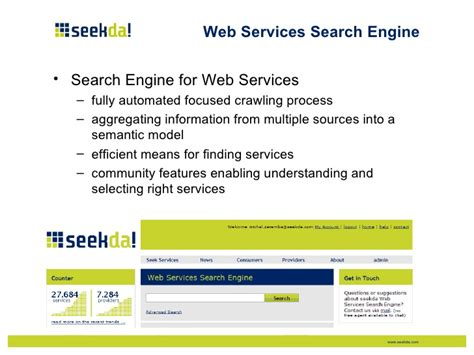 Search Engines Web Web Service Search Engines Enabling Of Service Commerce