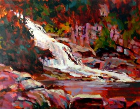 acrylic painting lessons waterfall acrylic painting lesson