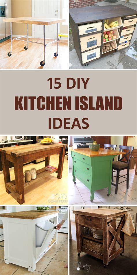 diy kitchen island plans 15 awesome diy kitchen island ideas